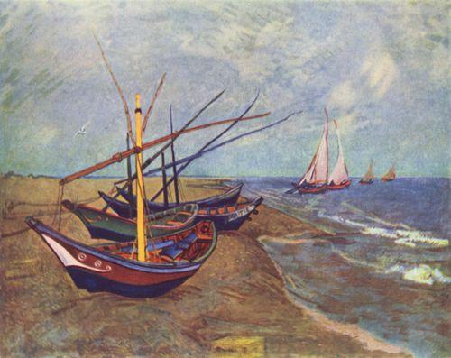 Винсент Виллем ван Гог. Рыбацкие лодки на пляже в Сент-Мари