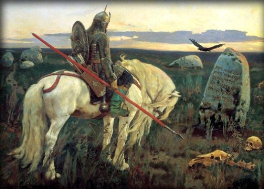 Виктор Михайлович Васнецов «Витязь на распутье». 1882 год.